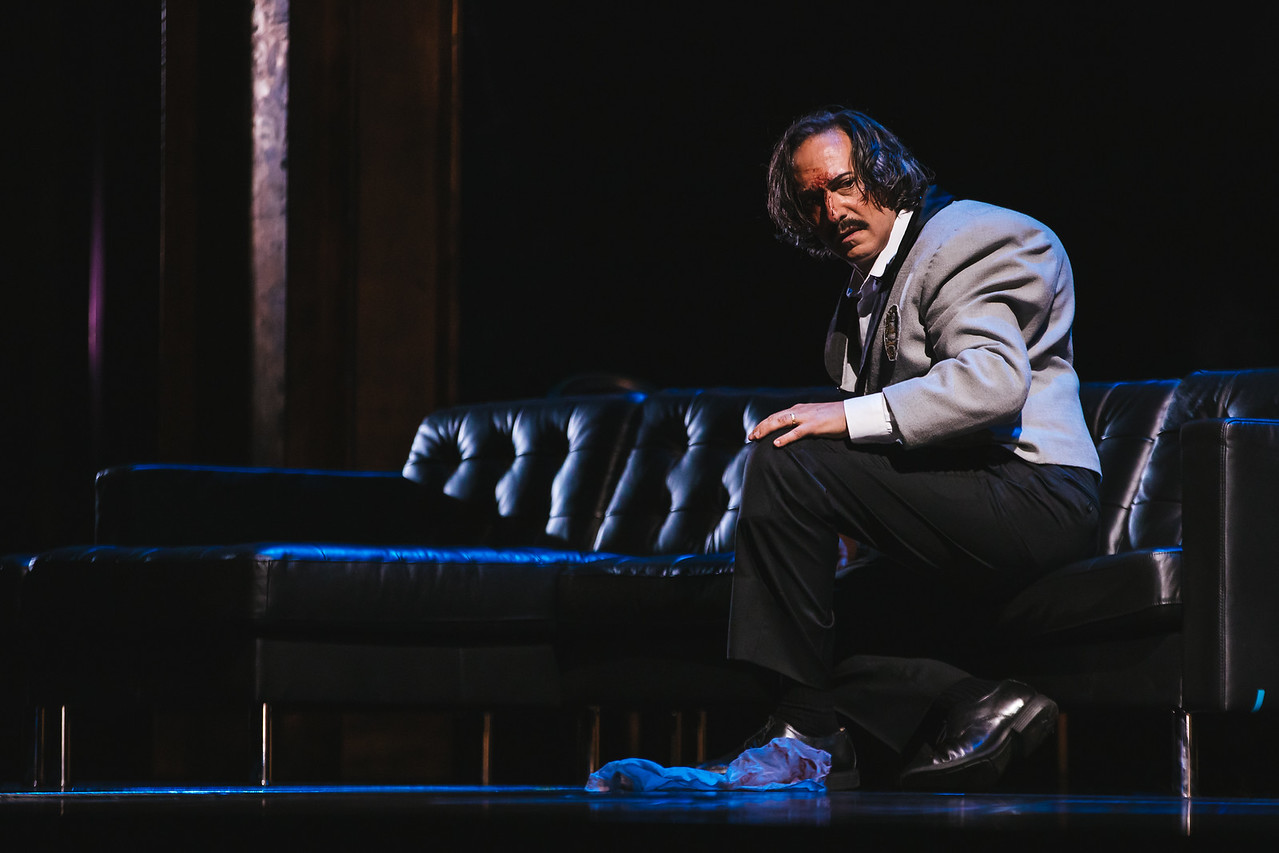 Giuseppe Altomare makes his Seattle Opera debut as the title character in Rigoletto - Sunny Martini photo