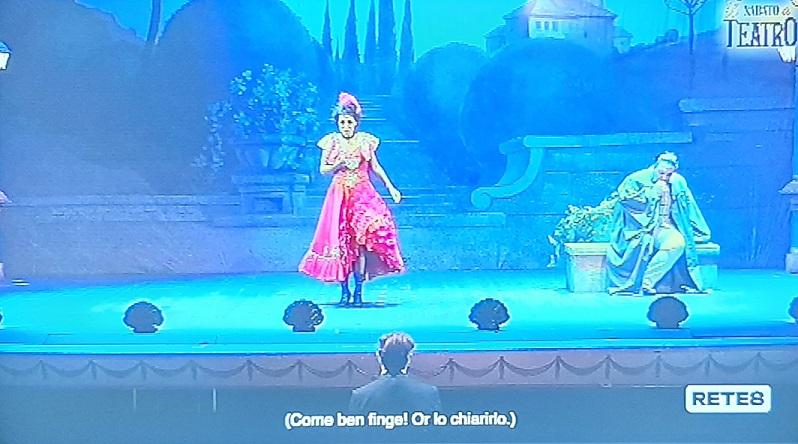 Immagine tratta dalla trasmissione televisiva
