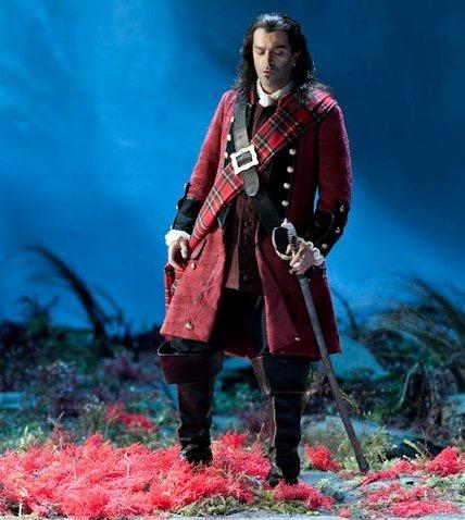 Piero Pretti nel ruolo di Edgardo (Lucia di Lammermoor) - Opera di Roma