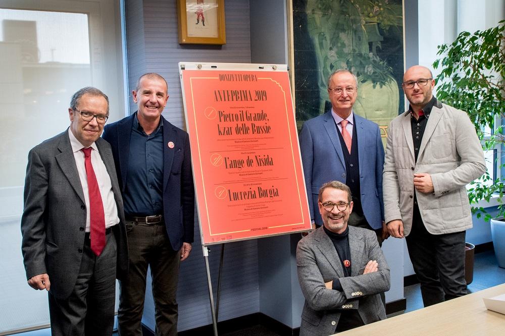 (da sinistra): Cristiano Ostinelli, Massimo Boffelli, Paolo Fabbri, Riccardo Frizza e Francesco Micheli