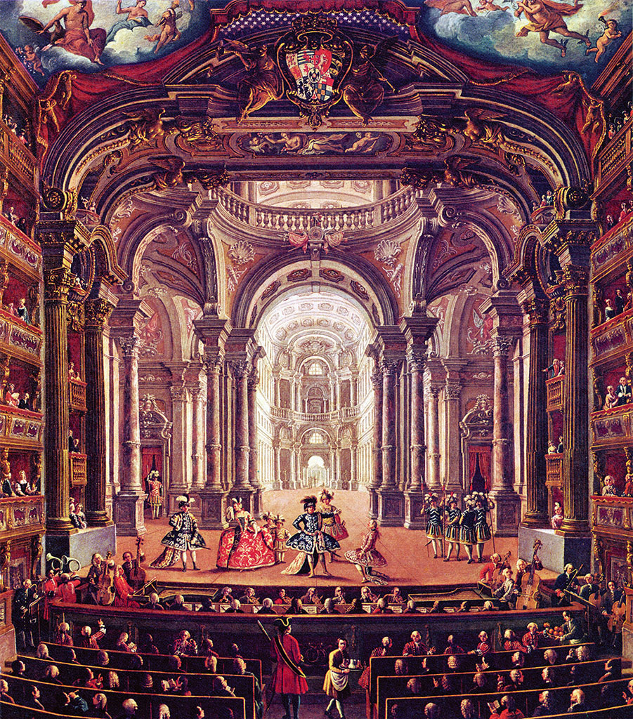 Pietro Domenico Olivero: Interno del Teatro Regio di Torino - foto @ Wikipedia
