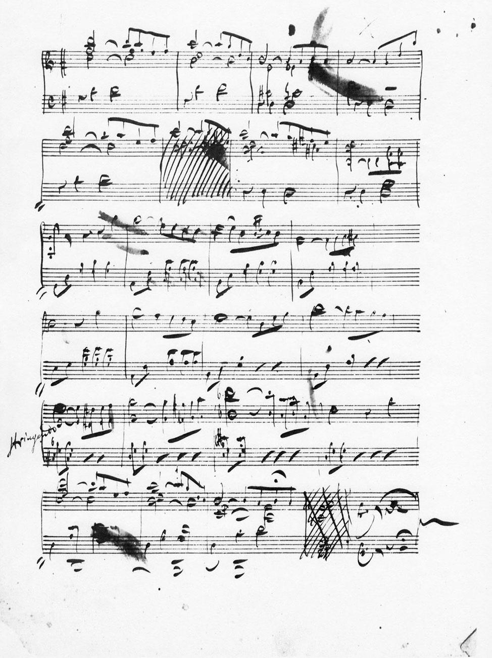 Puccini Manoscritto