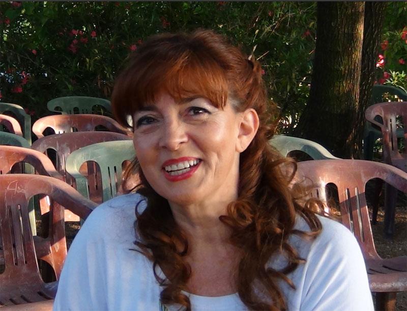 Linda Campanella durante l'intervista prima del concerto - foto di Danilo Boaretto