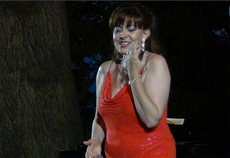 Linda Campanella durante il concerto - foto di Danilo Boaretto