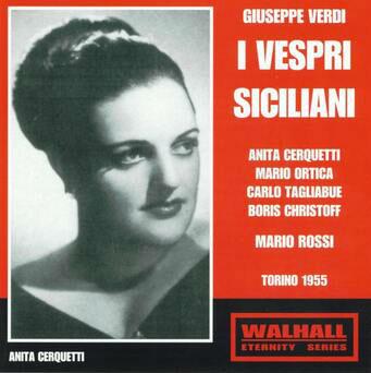 cover del CD dei Vespri con Anita Cerquetti