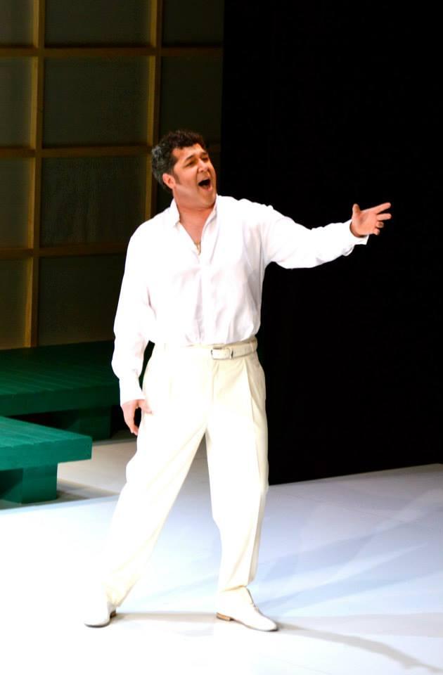 Luis Chapa nel ruolo di Pinkerton nella Madama Butterfly andata in scena al Teatro Verdi di Trieste - marzo 2014