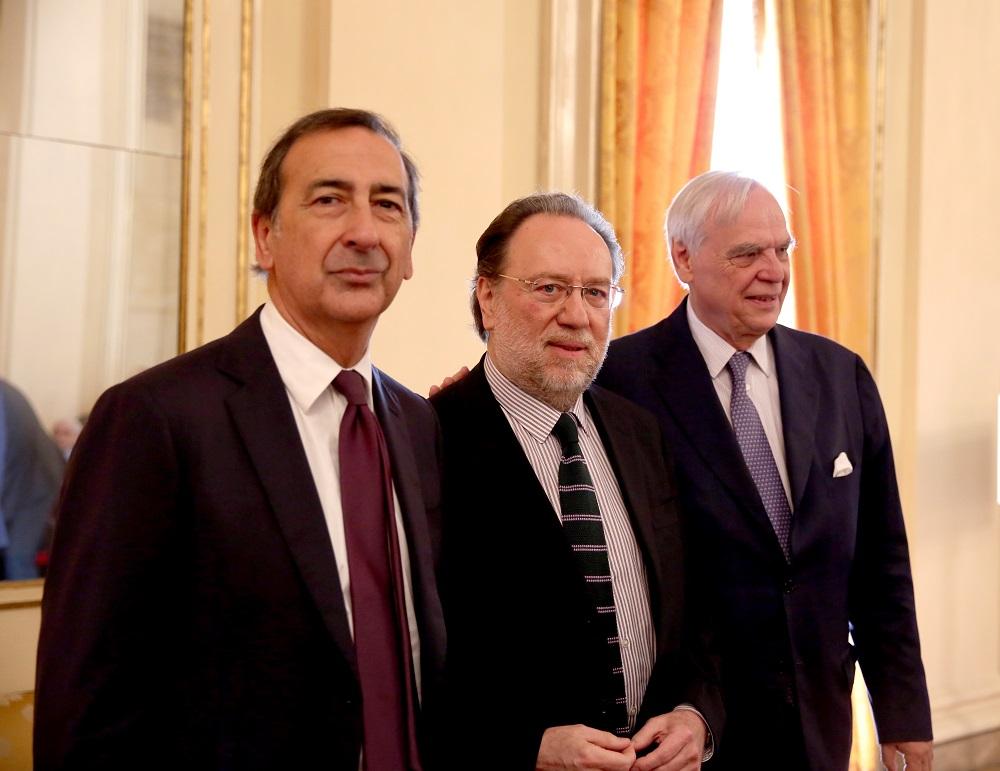Giuseppe Sala (Sindaco di Milano) Riccardo Chailly e Alexander Pereira