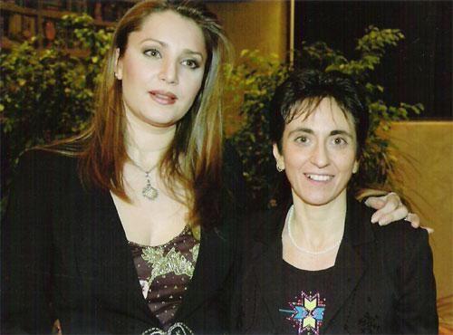 Barbara Frittoli con Giuseppina Mascari durante l'intervista