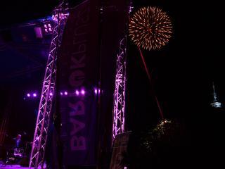 Fuochi d'artificio per l'inizio del Festival