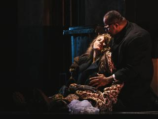 Madison Leonard (Gilda) and Lester Lynch (Rigoletto). Sunny Martini photo