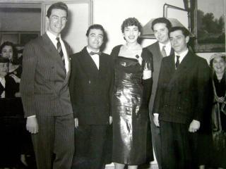 Rolando Panerai assieme a Maria Callas durante un concerto (Milano, 1956)