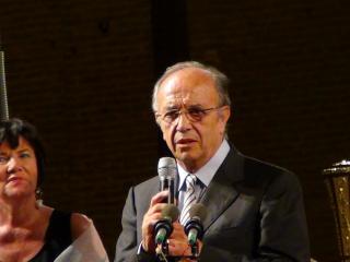 Maria Giovanna Gambazza Sindaco di Busseto e Leo Nucci Presidente della giuria - foto di OperaClick