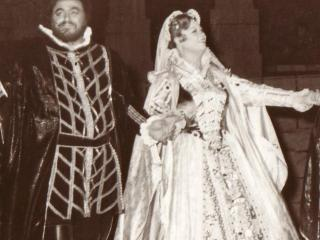 Cristina Deutekom (Lucia), Luciano Pavarotti (Edgardo); Verona, 1975