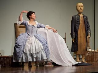 "Nuccia Focile (Susanna) in ""The Marriage of Figaro.""   Photo by Jacob Lucas"