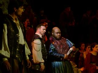 Harold Meers (Cassio), Michael Chioldi (Iago) and Issachah Savage (Otelo) Copyright - Marco AyalaOFJ.