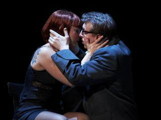 Corinne Winters (Violetta) and Joshua Dennis (Alfredo). Philip Newton photo