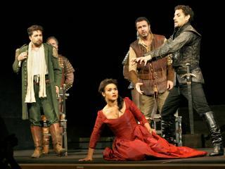 Paolo Bordogna, Olga Peretyatko, Simon Orfila e Juan Diego Flórez - Foto Amati Bracciardi