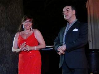 Linda Campanella e Bruno de Simone durante il concerto - foto di Danilo Boaretto