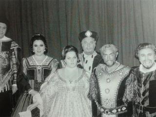 4 novembre 1972 - Ultima recita di Otello a Bruxelles accanto alla giovanissima Ricciarelli e a Aldo Protti