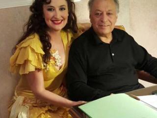 María José Montiel con Zubin Mehta