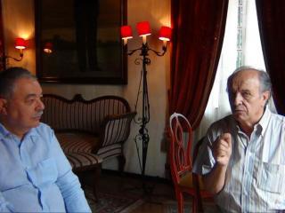 Giancarlo Landini e Leo Nucci durante un momento dell'intervista - foto di OperaClick
