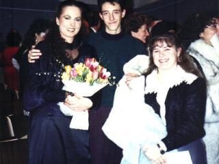 Monica Kurth al termine del concerto, accanto a Roberto e Susanna