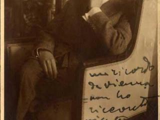 foto con dedica di Puccini a Giulia