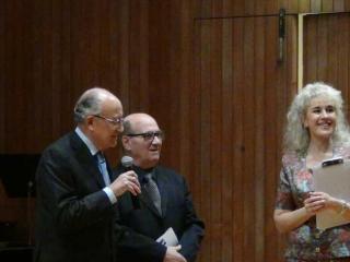 da sx: Francesco Saverio Borrelli, Vincenzo Puma e Bianca Maria Longoni - foto di OperaClick