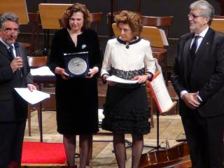 Danilo Boaretto e le sorelle Ghidini Bosco durante la premiazione a Juan Pons - foto di OperaClick