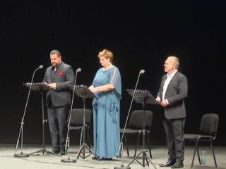 Devid Cecconi, Rebeka Lokar, Angelo Villari - immagine tratta dalla trasmissione tv