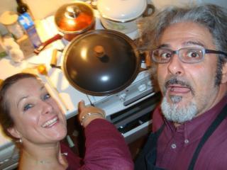Ginevra 2009, cena con Diana Damrau (Pietro è lo chef)