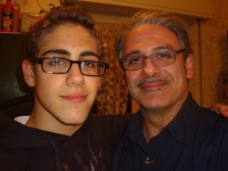 Con suo figlio Francesco
