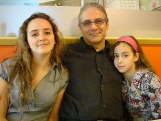 Con Benedetta ed Agnese, la figlia maggiore e la più piccola