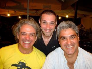 Roma 2009, con Massimo e Stefano, gli amici (romanisti) di una vita