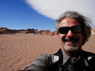 Deserto de Atacama (Chile 2009). Autoscatto.
