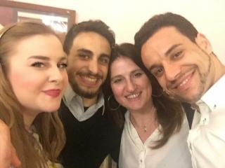 da sx Carlotta Vichi, Manuel Amati, Gabriella e Carlos Cardoso