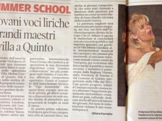 un articolo pubblicato da La Tribuna di Treviso