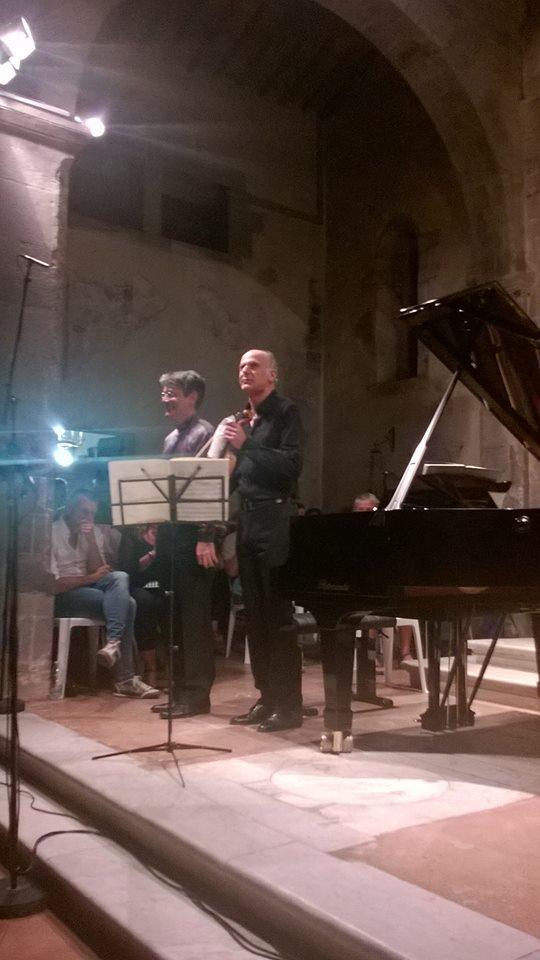 I due concertisti a Pieve a Elici (photo Fabio Bardelli)