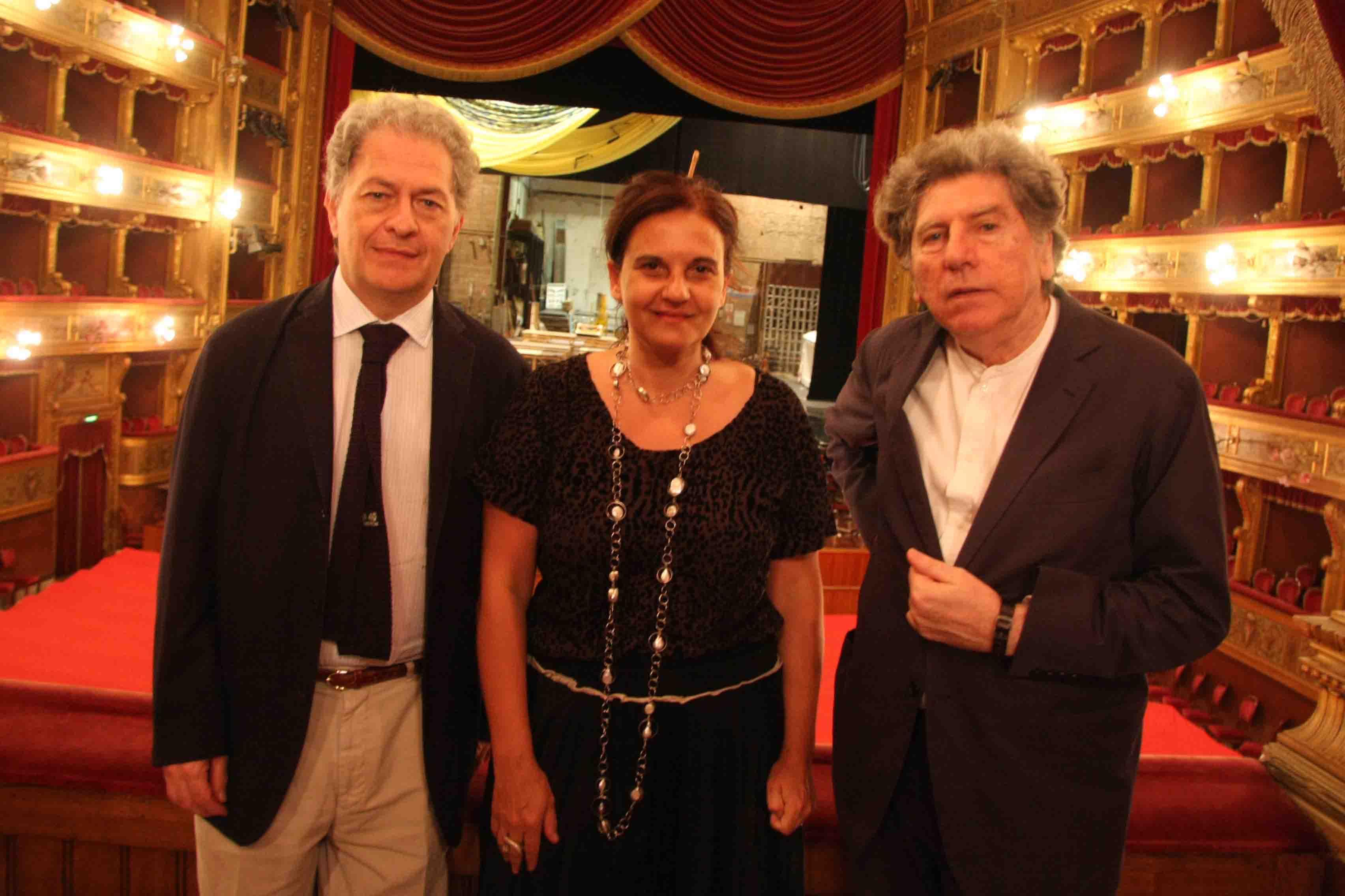 Fabio Carapezza Guttuso, Emma Dante e Gabriele Ferro - Photo © Studio Camera