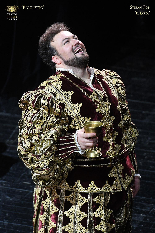 Stefan Pop nel ruolo del Duca di Mantova - foto Roberto Ricci
