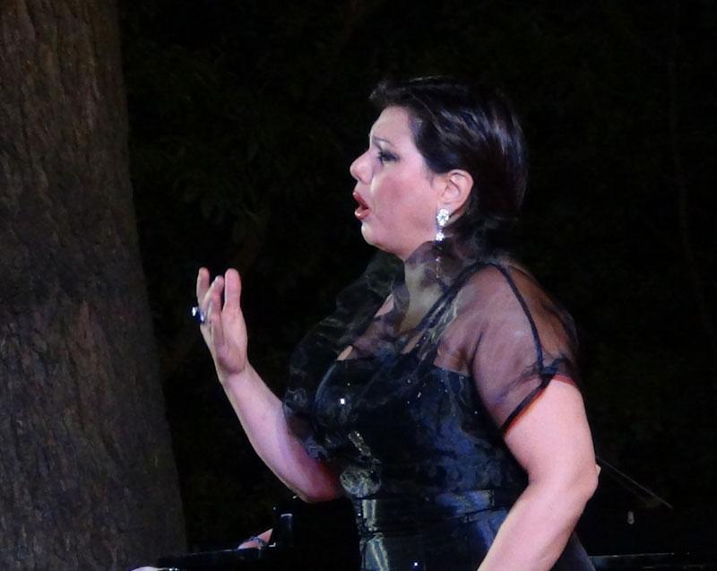Rossana Rinaldi durante il concerto - foto di Danilo Boaretto