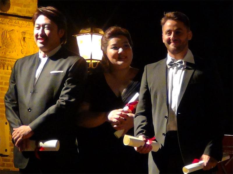 i tre vincitori